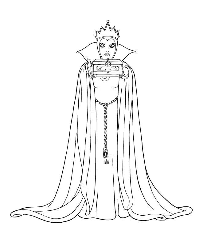 Snow White Queen Coloring Pages Printable Snow White Seven
